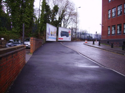 The footway has been widened to allow shared use.